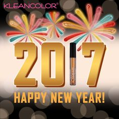 From our KleanColor family to you and yours, wishing you all very Happy New Year celebrations! #kleancolor #happynewyear #happynewyear2017 #nye #nye2016 #2017 #goodbye2016 #celebrate #makeup #cosmetics #beauty