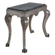19th Century Marble-Top Console Table | From a unique collection of antique and modern console tables at https://www.1stdibs.com/furniture/tables/console-tables/