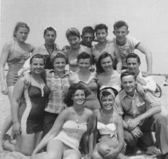 Beach party in the mid 1950's