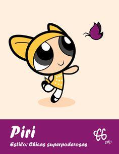 Piri hecha como una chica superpoderosa  por, Camila Garro