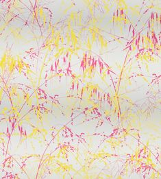 Clarissa Hulse for Harlequin - Callista - Meadow Grass wallpaper - fuschia / bronze