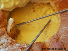Pan relleno de quesos. Las recetas de Tere