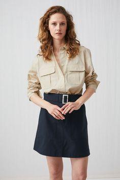 Arket navy skirt