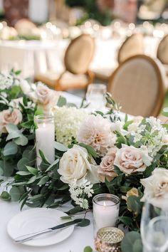 Blush Centerpiece, Blush Wedding Centerpieces, Greenery Centerpiece, Wedding Decorations, Wedding Table Arrangements, Reception Table Decorations, Floral Centerpieces, Blush Wedding Theme, Blush Wedding Flowers
