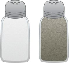 Salt and Pepper Shakers - Free Clip Art