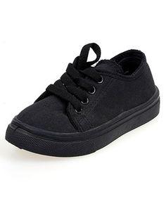 ae32e535636 Winston USA All Black Canvas Lace-Up Sneaker