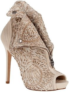 Alexander McQueen Fall 2011 Collection  Laser-cut Faithful peep-toe bootie