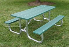 Nice, movable table. 6' is $788.00 and 8' is $988.00.  Check out all our pins at American Recycled Plastic or visit us online at www.itsrecycled.com #benches #tables #outdoorfurniture #patiofurniture #buyrecycled #recycled plastic #family business