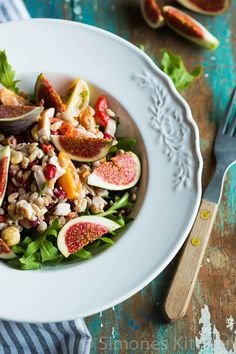 Farro salad with fresh figs - Simone's Kitchen