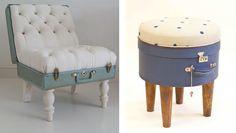 repurposed vintage suitcases.  OMG love this idea!