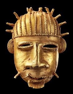 Africa | Amulet mask from the Baule people of the Ivory Coast | Brass | 500€ ~ sold