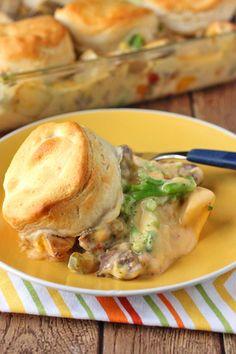 Cheesy Steak Potato Casserole