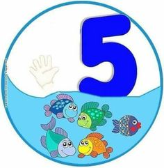 5 Numbers Preschool, Math Numbers, Alphabet And Numbers, Preschool Classroom, Kindergarten, Toddler Learning Activities, Kids Learning, Activities For Kids, Animated Numbers