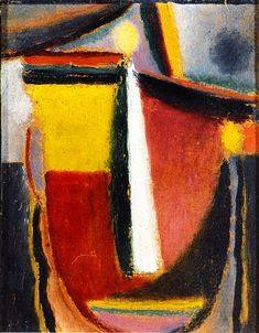 Tête abstraite (1922, Collection privée) d'Alexei Jawlensky