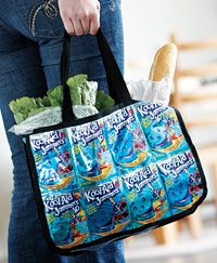 Sew a recycled tote bag out of juice bags