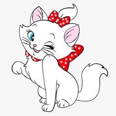 Marie - The Aristocats Disney Drawings, Cartoon Drawings, Art Drawings, Kitten Cartoon, Cartoon Pics, Tom Und Jerry, Marie Cat, Gata Marie, Disney Clipart