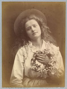 Julia Margaret Cameron, I'm to be Queen of the May, mother. #photography #art #kunst