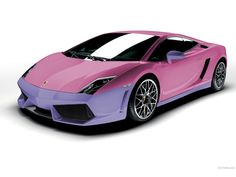 Another #feminine double color #covering style for #Lamborghini, #pink and bright #purple.