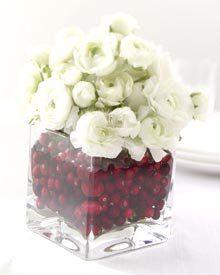 Cranberry winter florals. #cranberry #florals #holiday