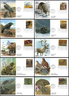 3802 a - j / Arctic Tundra : Nature of America Series Set of 10 Fleetwood 2003 First Day Covers