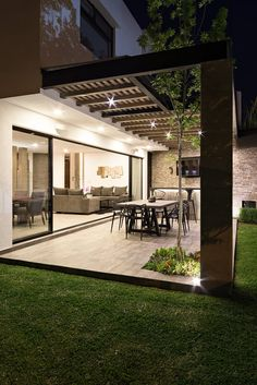 Backyard Patio Designs, Small Backyard Landscaping, Pergola Patio, Landscaping Ideas, Dream Home Design, Modern House Design, Modern House Facades, Contemporary Garden Design, Terrace Design