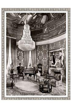 """Galerie Seru  Emile-Jacques Ruhlmann """"Grand Salon"""" circa 1925 Paris, Giclee Wall Art"""