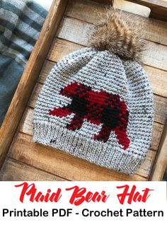 Make a plaid bear hat. Plaid Crochet Patterns – Create Trendy Plaid - A More Crafty Life Christmas Gifts For Friends, Great Christmas Gifts, Hat Patterns, Crochet Patterns, Plaid Crochet, Kerchief, Different Patterns, Crochet Crafts, Diy Tutorial
