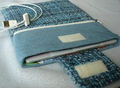 Upcycled iPad Case with Outside Zippered Pocket by SewFreshAgain, $39.95