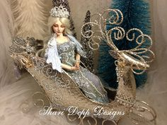 One of a Kind Fantasy Sleigh Set for 15  to 17 by ShariDeppDesigns