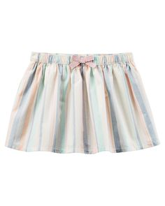 Baby Girl Striped Poplin Skirt from Carters.com. Shop clothing & accessories from a trusted name in kids, toddlers, and baby clothes.