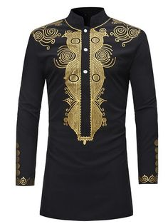 Ericdress African Fashion Dashiki Print Slim Fitted Stand Collar Mens Shirts Online store for the latest fashion & trends in women's collection. Shop affordable ladies' Dresses, Clothing, Shoes & Accessories with top quality. Cheap Mens Shirts, Mens Shirts Online, Men's Shirts, Printed Shirts, Dress Shirts, Dress Vest, Long Shirts, Dashiki For Men, African Dashiki