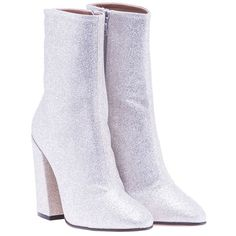 Shop Dries Van Noten Glittered Ankle Boots and save up to EXPRESS international shipping! White High Heel Boots, White Leather Boots, Leather High Heel Boots, White Boots, Heeled Boots, High Heels, White White, Leather Booties, Fancy Shoes