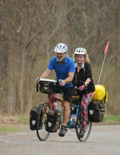 Bruce and Karen Beck will set out on May 3 for a cross-country bike tour. They will ride their tandem bike from Seattle to Boston.