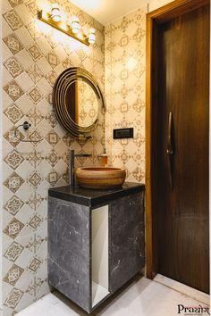Art Deco Apartmentinterior Design Prayog Design Studio - The Architects Diary Washroom Design, Modern Bathroom Design, Bathroom Interior Design, Modern Interior Design, Design Bedroom, Contemporary Bathrooms, Kitchen Interior, Home Design, Design Studio