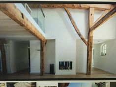houten spanten, open ruimte