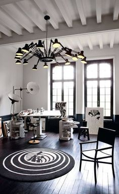 1000 images about salon on pinterest salons industrial loft and deco - Idee deco plafond poutre ...
