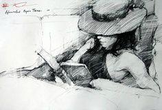 girl reading ~ Andre Kohn
