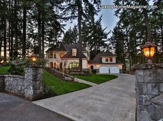 Exceptional French Country Estate with semi-private studio > http://bit.ly/1M8XDBg < Lake Oswego, OR