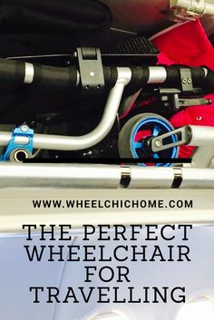The TIGA-FX is a folding wheelchair that goes in most overhead storage areas on a plane. It's a small light wheelchair that helps disabled travellers stay in their own wheelchair right to the aircraft door and it can fold down and go on board with you. It opens up the world to disabled travellers and makes travelling by Plane more accessible. For the full story please look in my blog www.wheelchichome.com Fly Travel, Travel Tips, Handicap Accessible Home, Handicap Bathroom, Wheelchair Ramp, Adaptive Equipment, Overhead Storage, Mobility Aids, By Plane