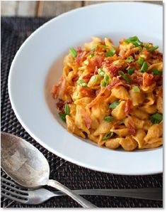 Low FODMAP Recipes - Bacon, Sage & pumpkin pasta - gluten free. [Rating 4/5. I fried chopped chicken breast with the bacon in garlic infused oil & added baby spinach & chopped green spring onions. Enjoy *FODMAP Follower*]