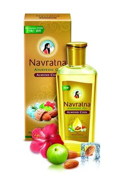 Navratna Ayurvedic Oil Almond Cool 100 ML Free Shipping >>> Click on the image for additional details.