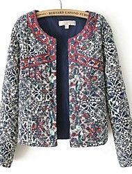 Manteau ( Coton/Polyester/Mélange de coton ) Normal - Casual/Impression - Moyen à Manche longue