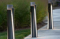 Illuminated Bollard, Guide by Bailey Artform Street Furniture Bollard Lighting, Cool Lighting, Outdoor Lighting, Lighting Design, Urban Furniture, Street Furniture, Blitz Design, Light In, Luz Natural