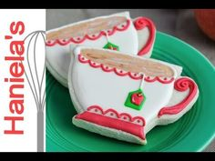 ▶ How To Decorate Tea Cup Cookies, Tea Party - YouTube