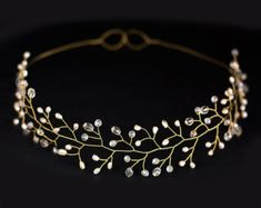 this gold delicate vine circlet by jennifer behr is a
