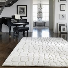 Croc Rugs are one of our favourite self coloured collections and we hope you agree the design is simply stunning. #WhiteRugs #AnimalRugs