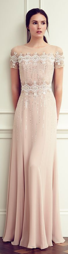 Jenny Packham Resort 2015-Such a soft pink gorgeous prom dress or even a beautiful bridesmaid's dress.  Love it.