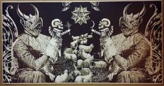 "Satanic ART Giant Wide 46"" X 24"" Poster Evil ART Devil Halloween Satan Sheep 