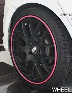Rim Blade Wheel Protector Pink LF Sonata Avante Cerato Rio K3 Hyundai Kia #Kabis