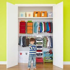 Organizing your child's wardrobe doesn't have to be an all-day affair. Follow these simple steps to make over even the messiest closet in no time!